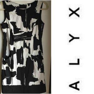 Alyx Black & White Sheath Sleeveless Dress-Size 6